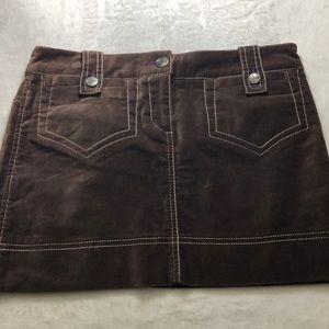 Brand New BCBG Brown Jean Skirt